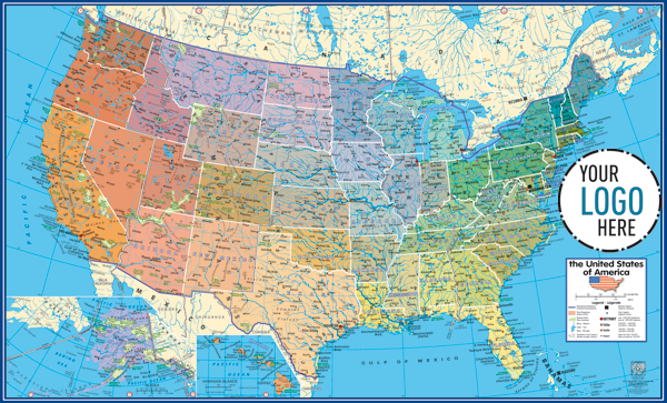 GABELLI US INC V - Physical map of the us